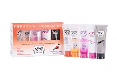 Eroticgel Pepee Collectors Edition Box with five 50ml lubricants