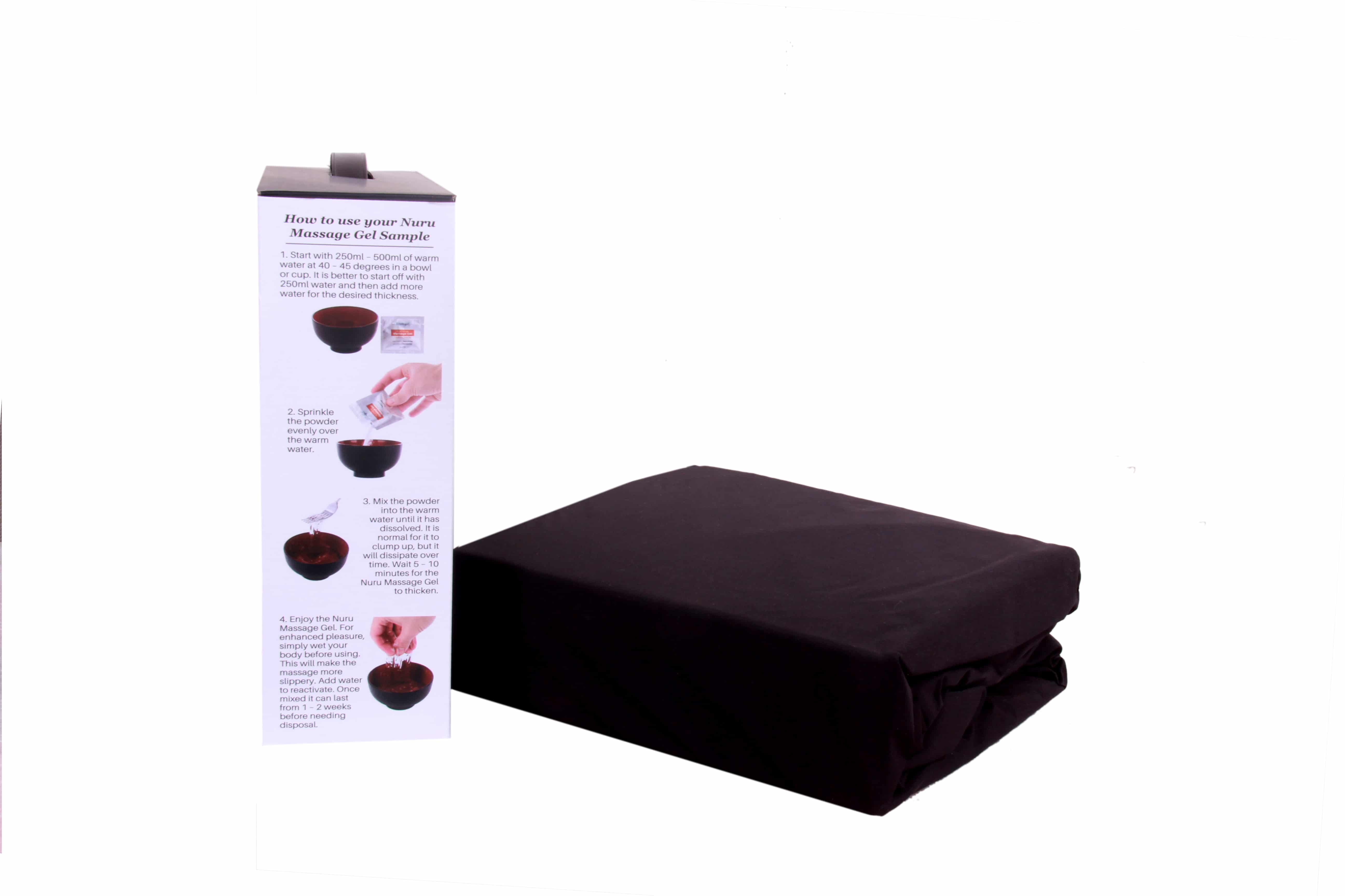 Eroticgel Extreme Sheet Side 1 with box and waterproof sheet