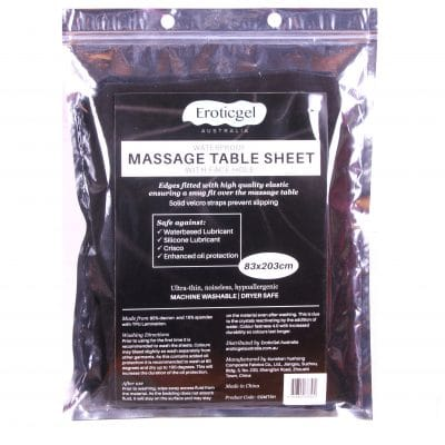 NEW RELEASE – Waterproof Massage Sheet for Massage Table with Face Cutout