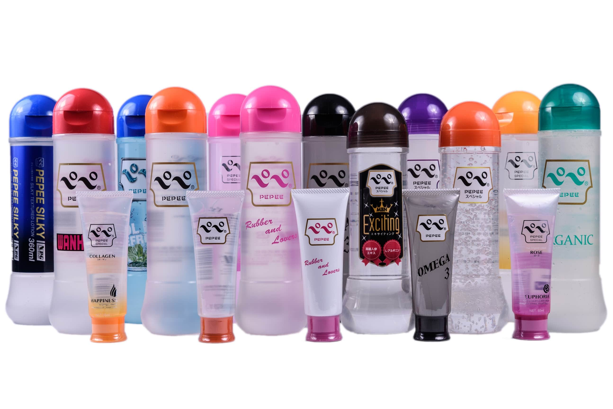 An assortment of Eroticgel Pepee 360ml Lubricants