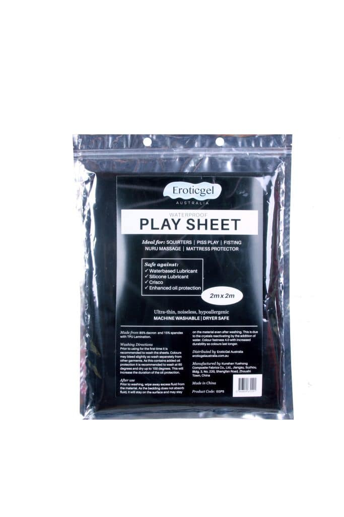 Eroticgel Play Sheet Front packaging