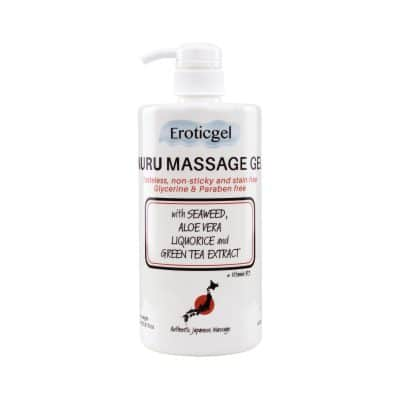 Massage Gel 1000ml/ 33.81 oz with Aloe Vera, Seaweed, Green Tea, Liquorice Extract, and Vitamin B5 – Katabira Edition